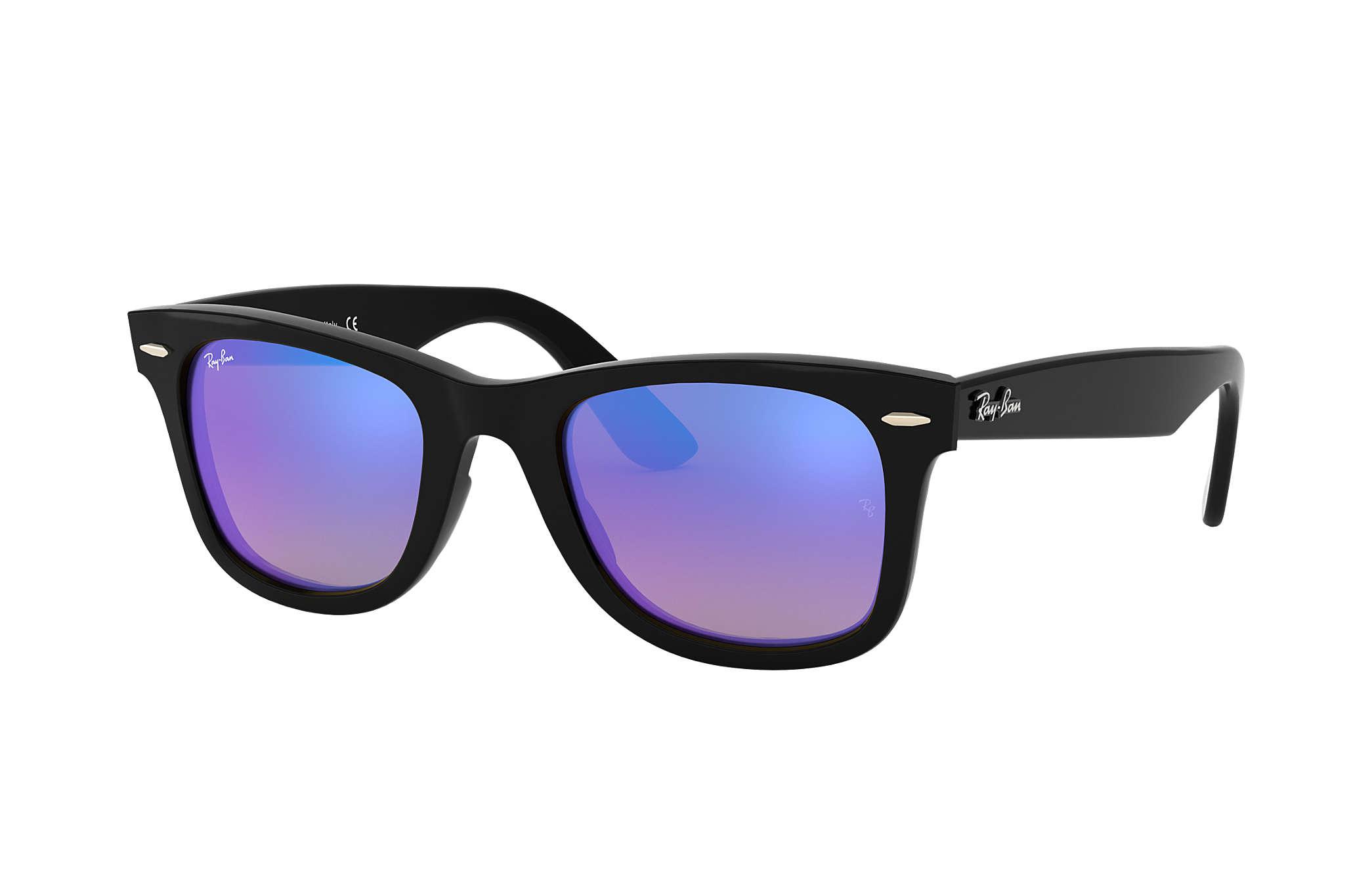 779bfd51b Ray-Ban Wayfarer Ease RB4340 Black - Injected - Blue Lenses ...