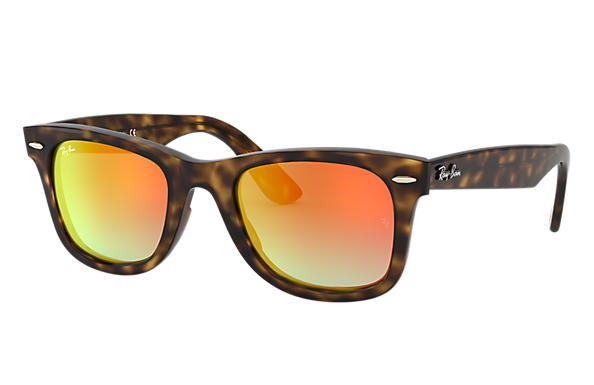 49b6eab152 Ray-Ban Wayfarer Ease RB4340 Tortoise - Injected - Orange Lenses ...