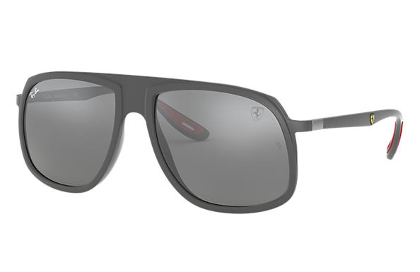 Ray-Ban Sunglasses RB4308M SCUDERIA FERRARI COLLECTION Grey with Grey Mirror lens