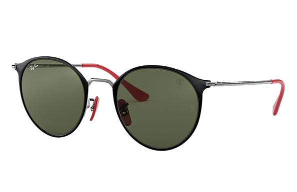 Ray-Ban 0RB3602M-SCUDERIA FERRARI COLLECTION RB3602M Nero,Canna di fucile; Canna di fucile SUN
