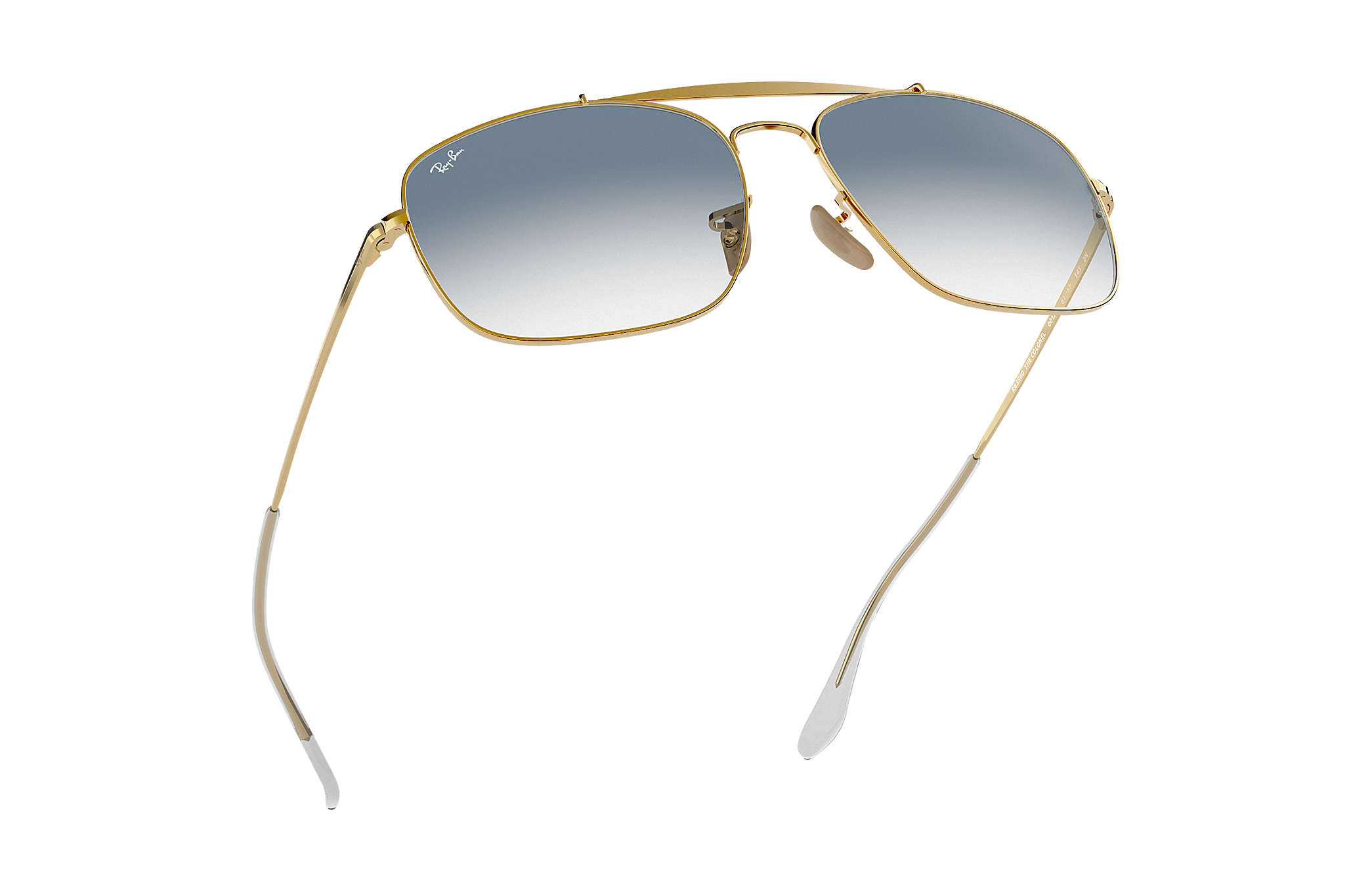 f53b44a0617 Ray-Ban Colonel RB3560 Gold - Steel - Light Blue Lenses - 0RB3560001 ...
