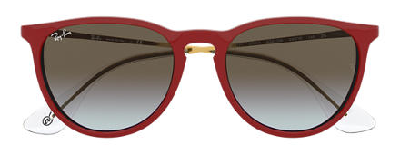 Ray-Ban ERIKA @Collection Red with Brown Gradient lens