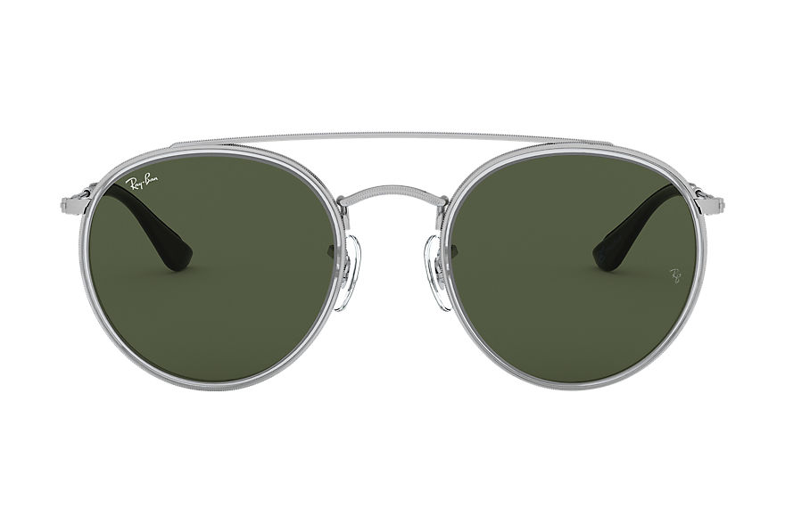 Ray-Ban  sunglasses RB3647N UNISEX 001 round double bridge online exclusive silver 8053672910841