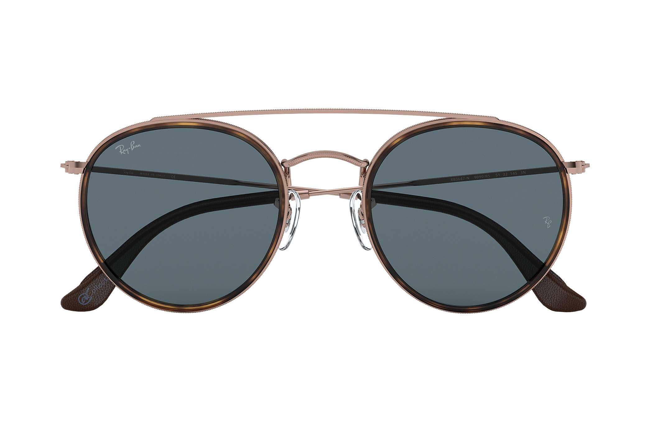 ... Ray-Ban 0RB3647N-ROUND DOUBLE BRIDGE  COLLECTION Bronze-Copper SUN ... 3be02d7ad1