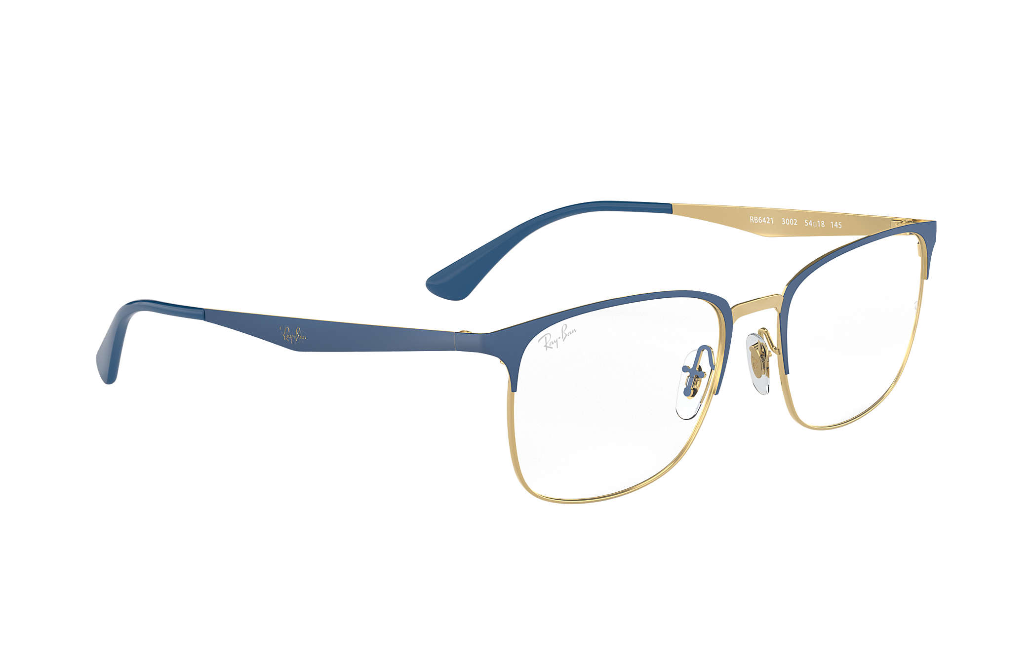 ef8e710368e Ray-Ban prescription glasses RB6421 Blue - Metal - 0RX6421300252 ...