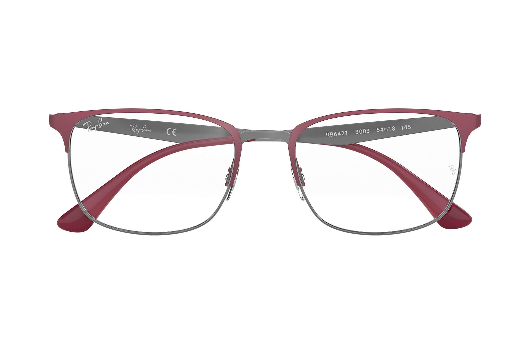 85f4de566a2 Ray-Ban eyeglasses RB6421 Bordeaux - Metal - 0RX6421300354