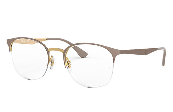 Ray-Ban 0RX6422-RB6422 Beige,Gold; Hellbraun,Gold OPTICAL
