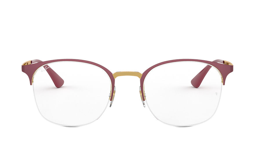 Ray-Ban  eyeglasses RX6422 FEMALE 005 rb6422 酒红色 8053672915204