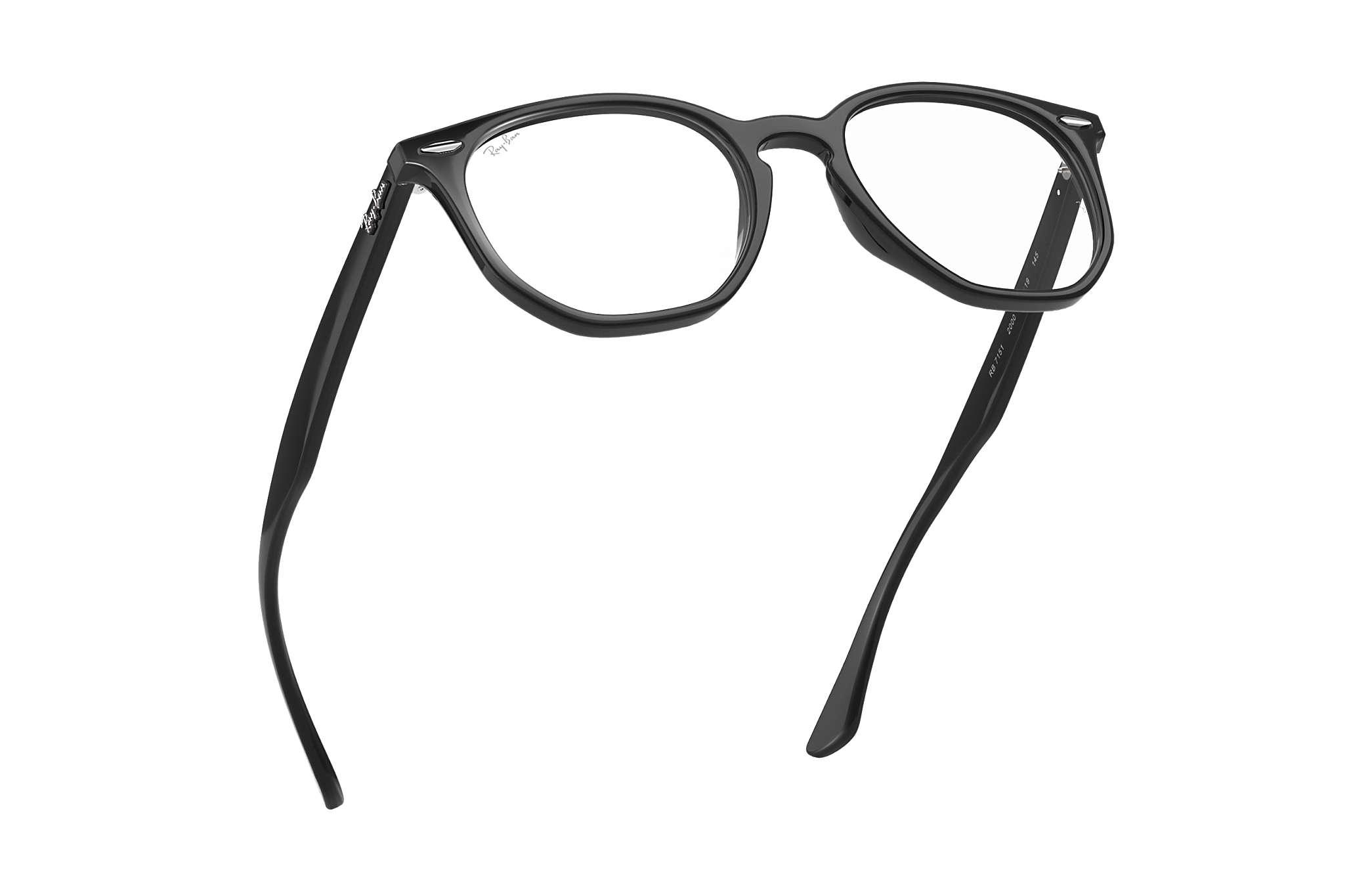d971cada82 Ray-Ban prescription glasses Hexagonal Optics RB7151 Black - Acetate ...