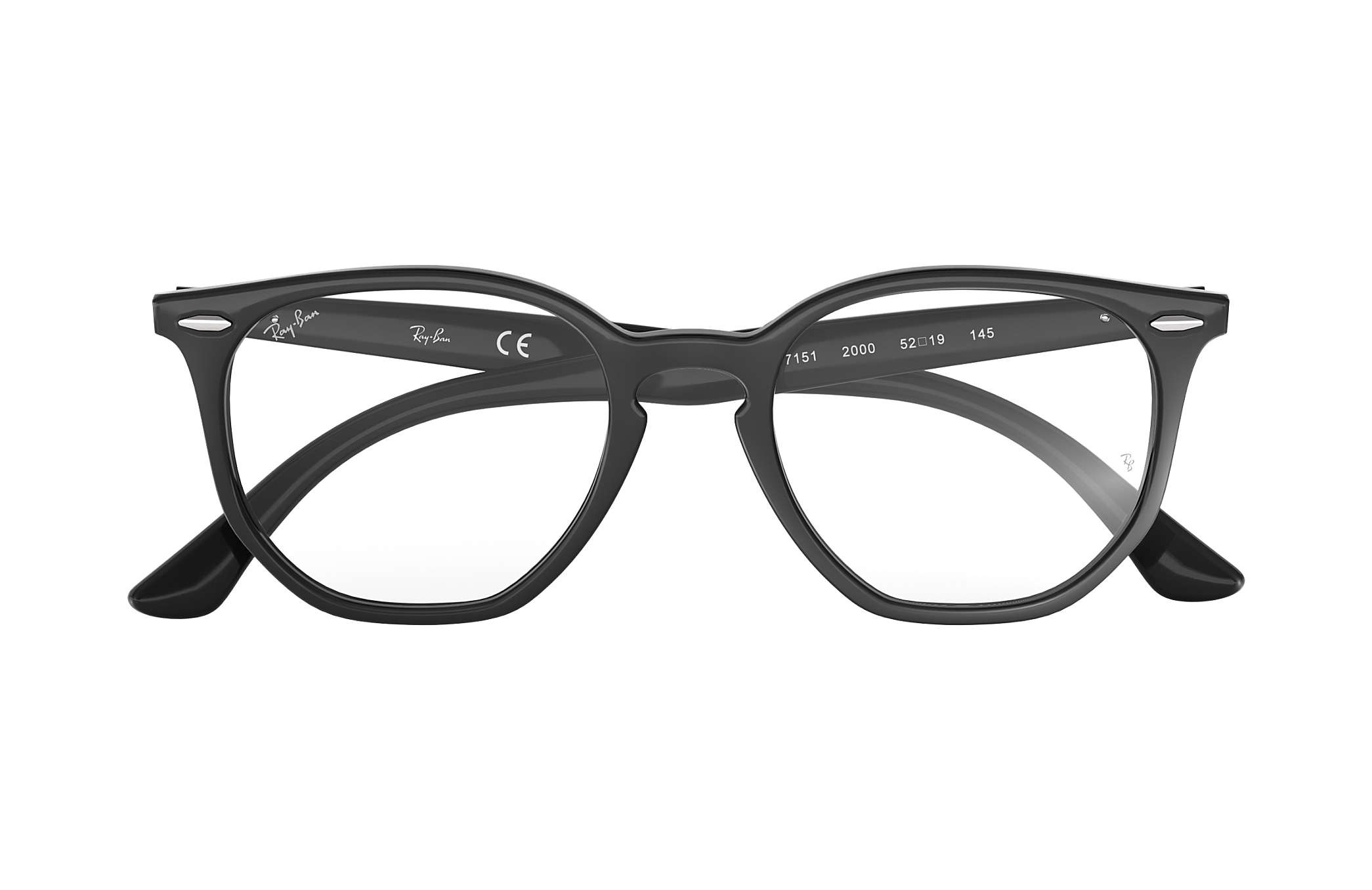 da5c093694 Ray-Ban prescription glasses Hexagonal Optics RB7151 Black - Acetate ...