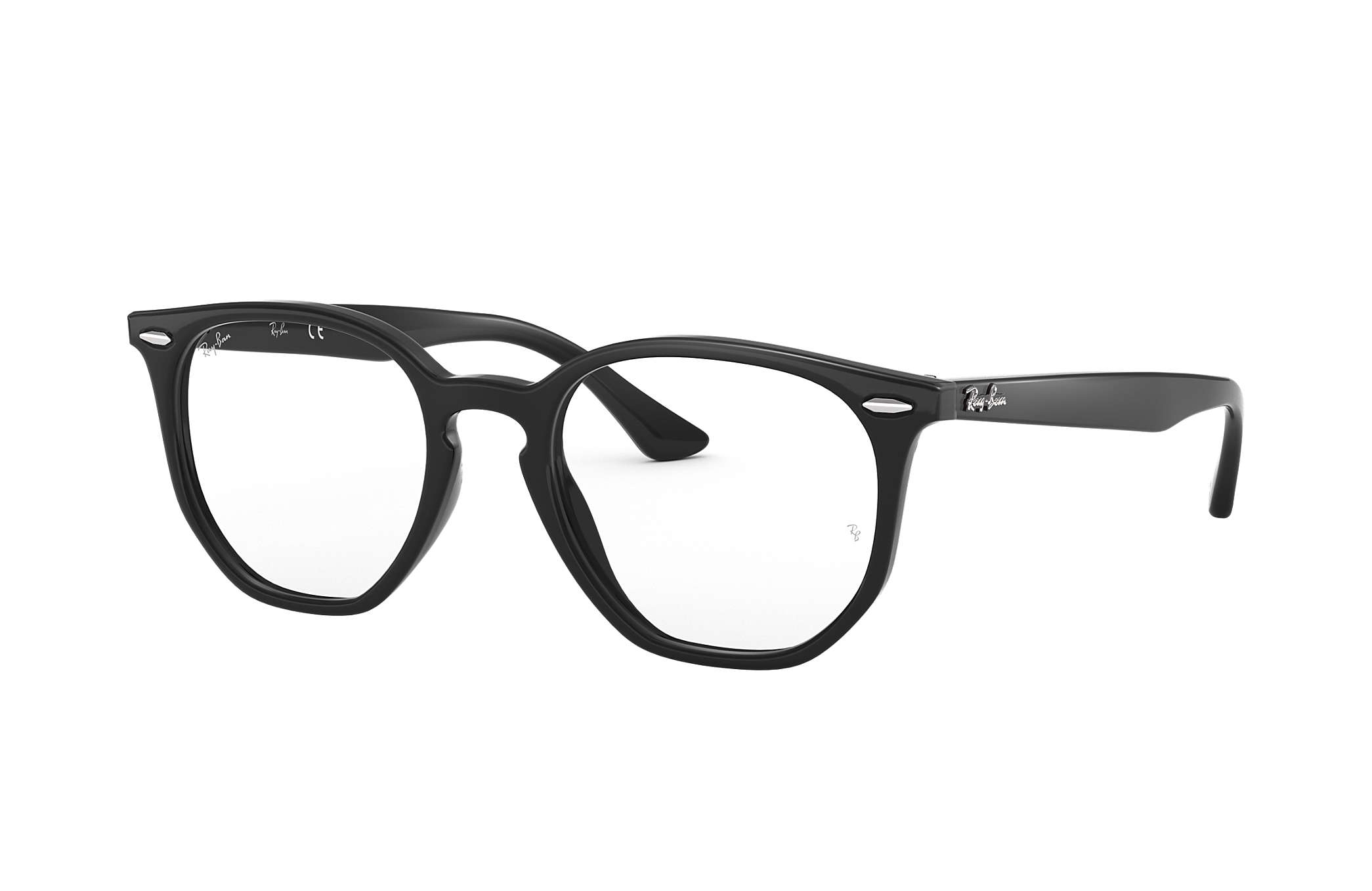 6202f2eb5d Ray-Ban prescription glasses Hexagonal Optics RB7151 Black - Acetate ...