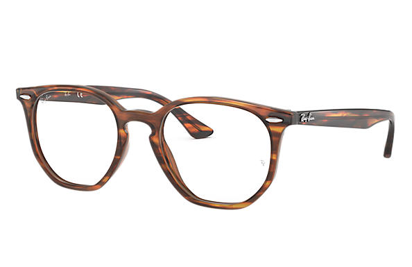 100cdd3e4ac Ray-Ban prescription glasses Hexagonal Optics RB7151 Tortoise ...