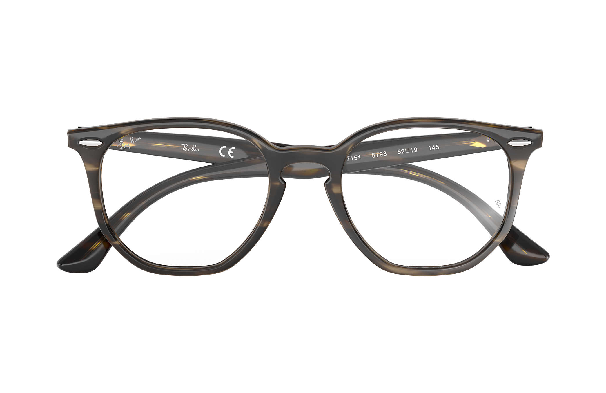 6376eef3560 Ray-Ban eyeglasses Hexagonal Optics RB7151 Tortoise - Acetate ...