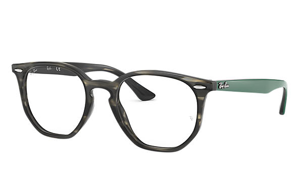 Ray-Ban 0RX7151-RB7151 HEXAGONAL OPTICS Havana; Grün,Havana OPTICAL