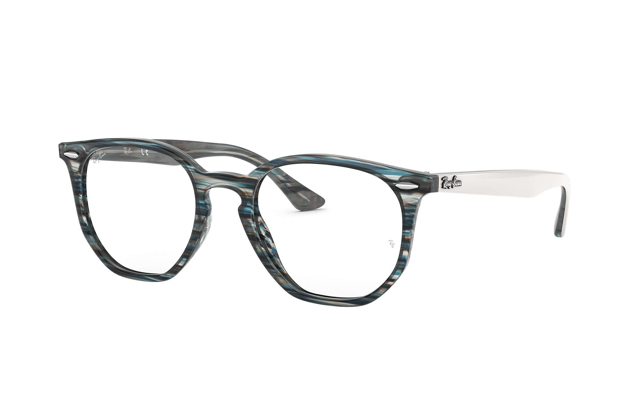ed4be76ec Óculos de grau Ray-Ban Hexagonal Optics RB7151 Azul - Acetato ...