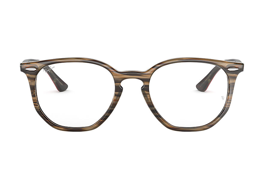 Ray-Ban  lunettes de vue RX7151 UNISEX 008 rb7151 hexagonal optics brown 8053672915365