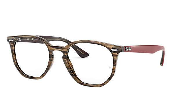 Ray-Ban 0RX7151-HEXAGONAL OPTICS Braun; Rot,Braun OPTICAL