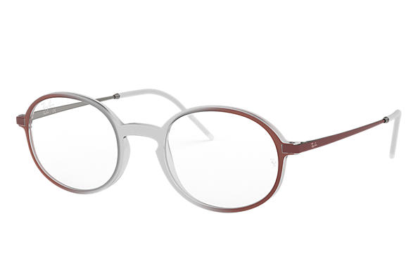 Ray-Ban 0RX7153-RB7153 Marron clair; Bordeaux,Gun OPTICAL