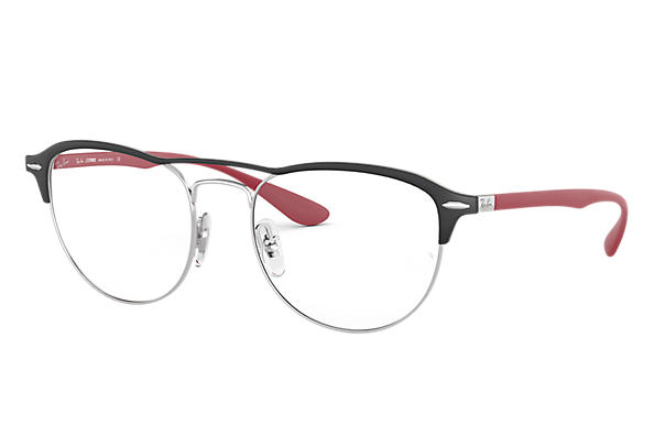 Ray-Ban 0RX3596V-RB3596V Negro,Plata; Rojo OPTICAL