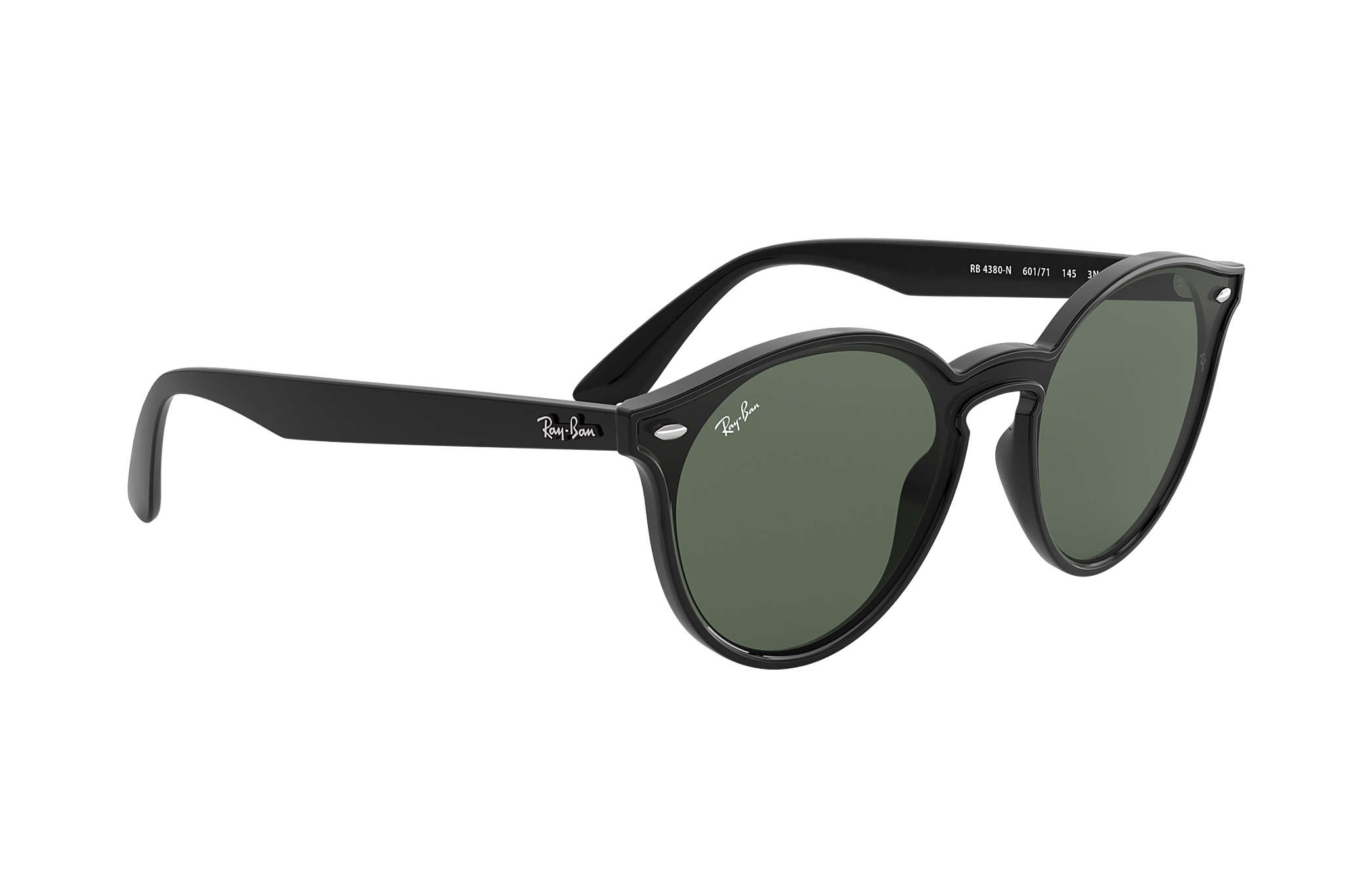 4f082a8d61 Ray-Ban Blaze Rb4380n RB4380N Black - Nylon - Green Lenses ...