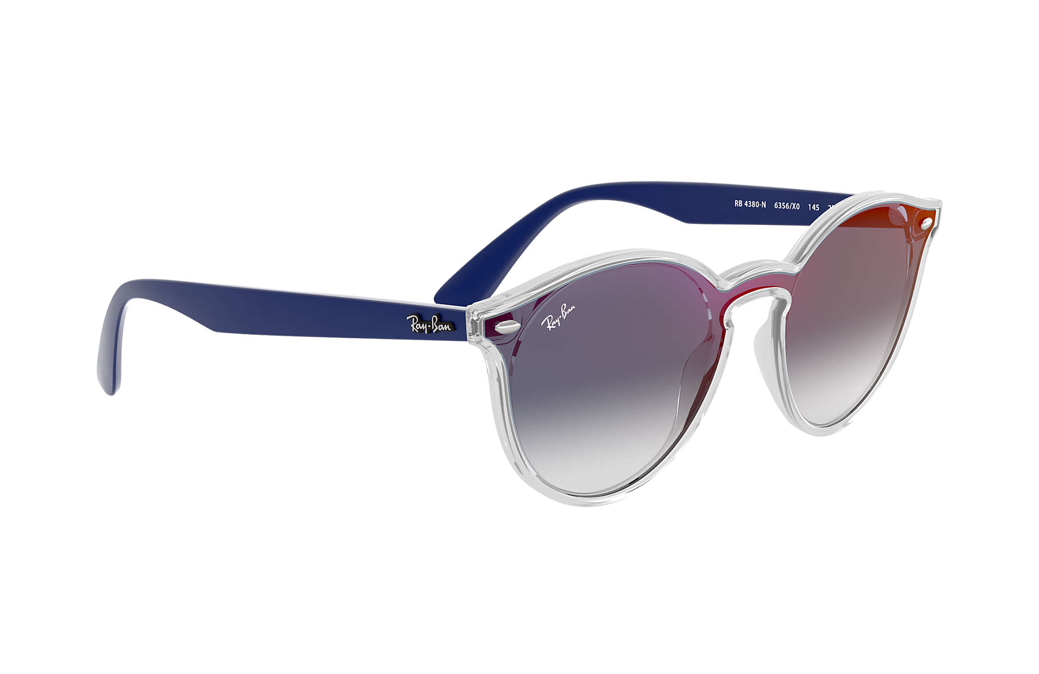 464f93e4d Ray-Ban Blaze Rb4380n RB4380N Transparente - Nylon - Lentes Azul ...