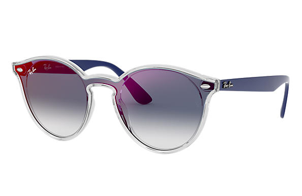 Ray-Ban 0RB4380N-BLAZE RB4380N Transparent; Blue SUN