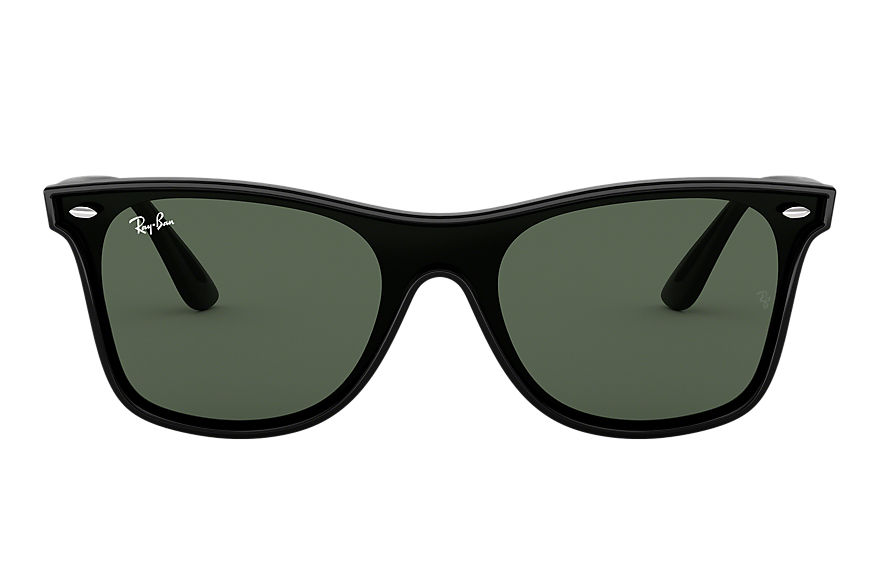 Ray-Ban Sunglasses BLAZE WAYFARER Transparent with Blue Gradient Mirror lens
