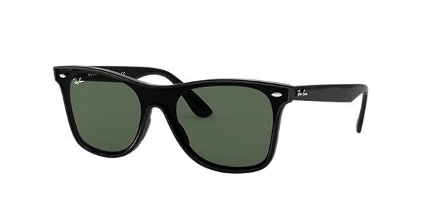 dd72bd99c6469 Ray-Ban Blaze Wayfarer RB4440N Black - Nylon - Green Lenses -  0RB4440N601 7141