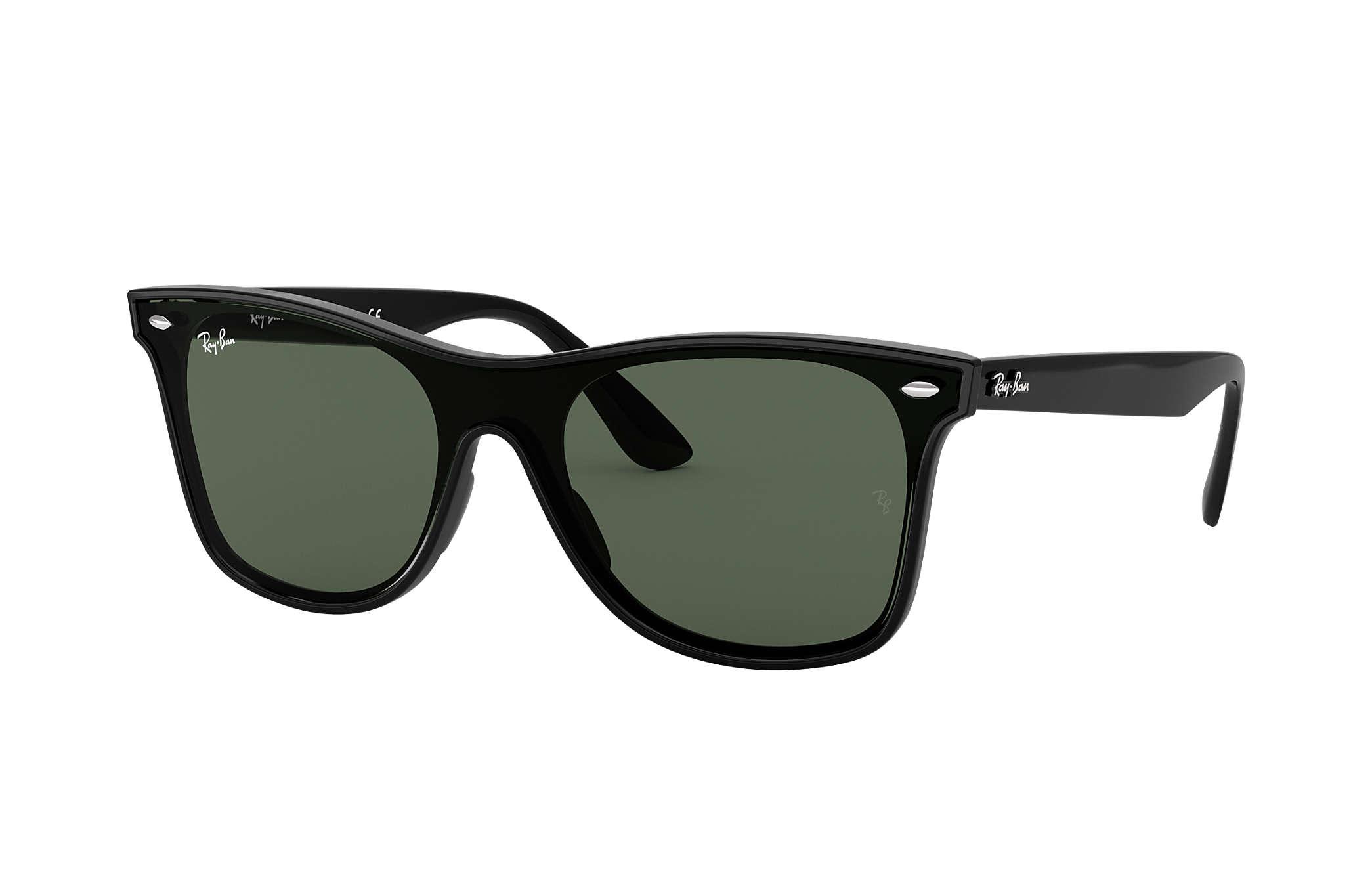 e8e4cc612e34 Ray-Ban Blaze Wayfarer RB4440N Black - Nylon - Green Lenses ...