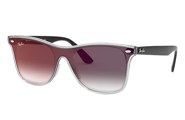 Ray-Ban 0RB4440N-BLAZE WAYFARER Transparent; Black SUN