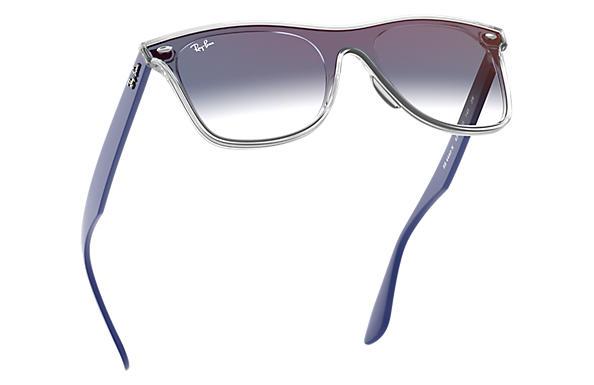 3c2342e67648d Ray-Ban Blaze Wayfarer RB4440N Transparente - Nylon - Lentes Azul ...
