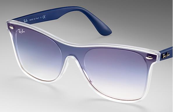 9b75e318840a4 Ray-Ban Blaze Wayfarer RB4440N Transparent - Nylon - Blue Lenses ...