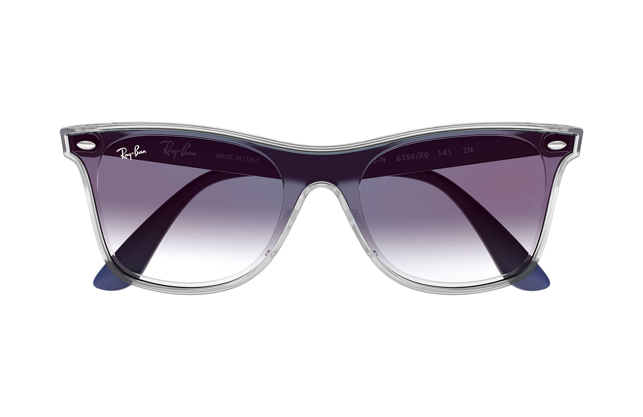 Ray-Ban Blaze Wayfarer RB4440N Transparent - Nylon - Gläser, Blau ...