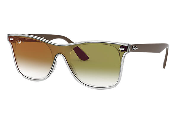 Ray-Ban 0RB4440N-BLAZE WAYFARER Transparent; Green SUN