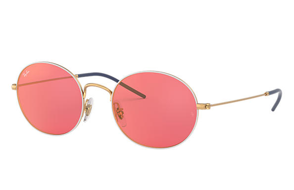 Ray-Ban Ray-ban Beat RB3594 White - Metal - Red Lenses ...