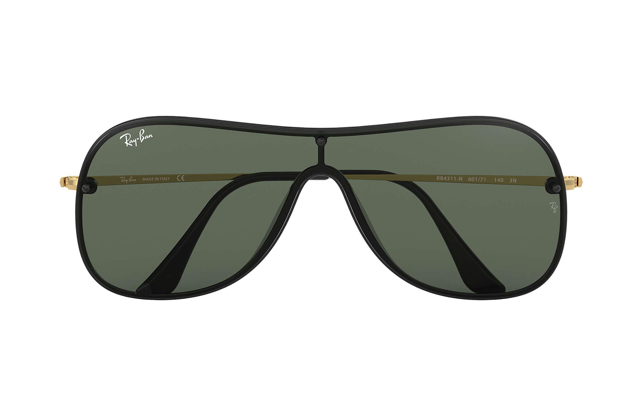 b4f93db22e Ray-Ban RB4311N Black - Nylon - Green Lenses - 0RB4311N601 7138 ...