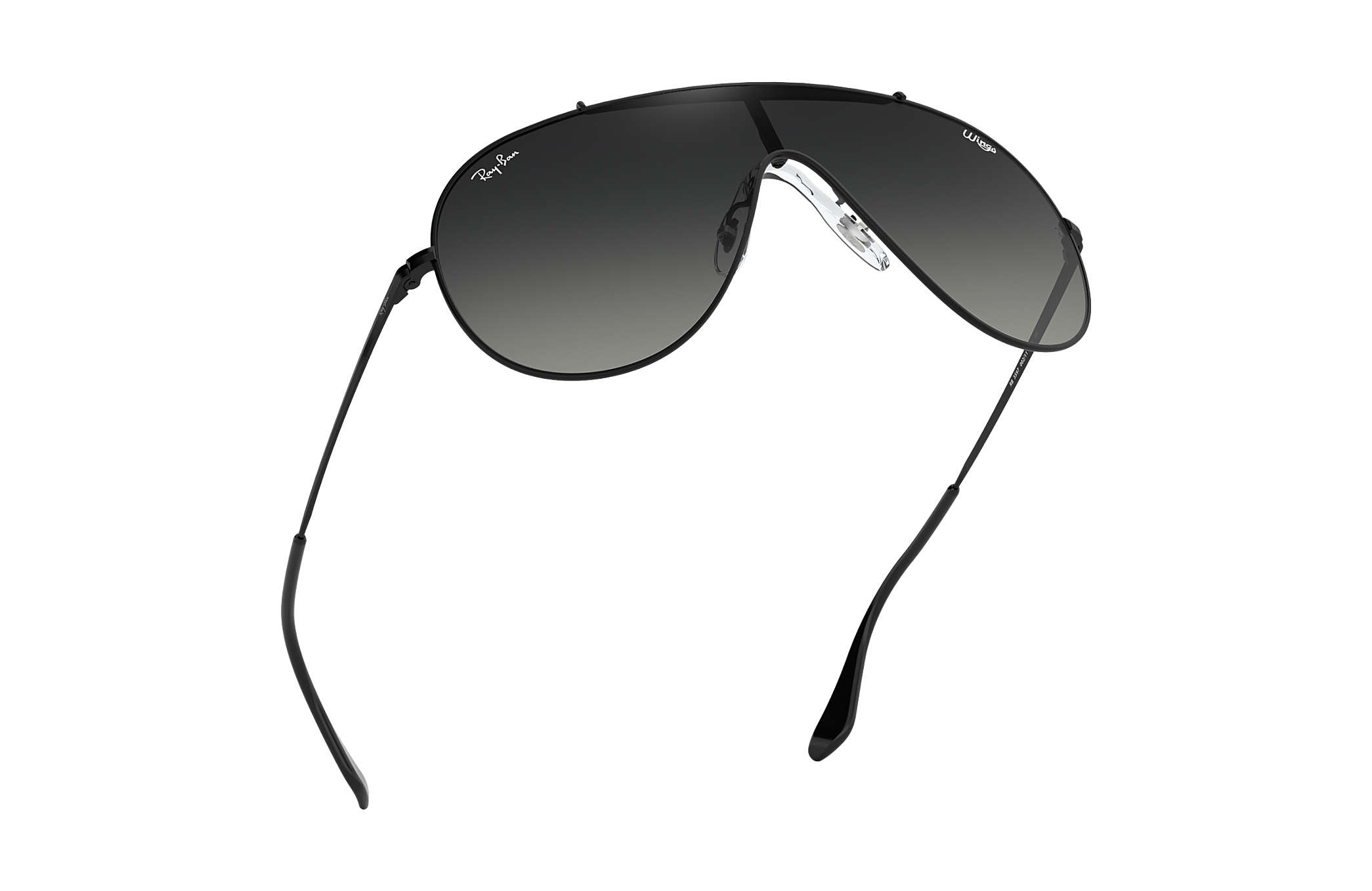 13af0c62a42bd Ray-Ban Wings RB3597 Black - Metal - Grey Lenses - 0RB3597002 1133 ...