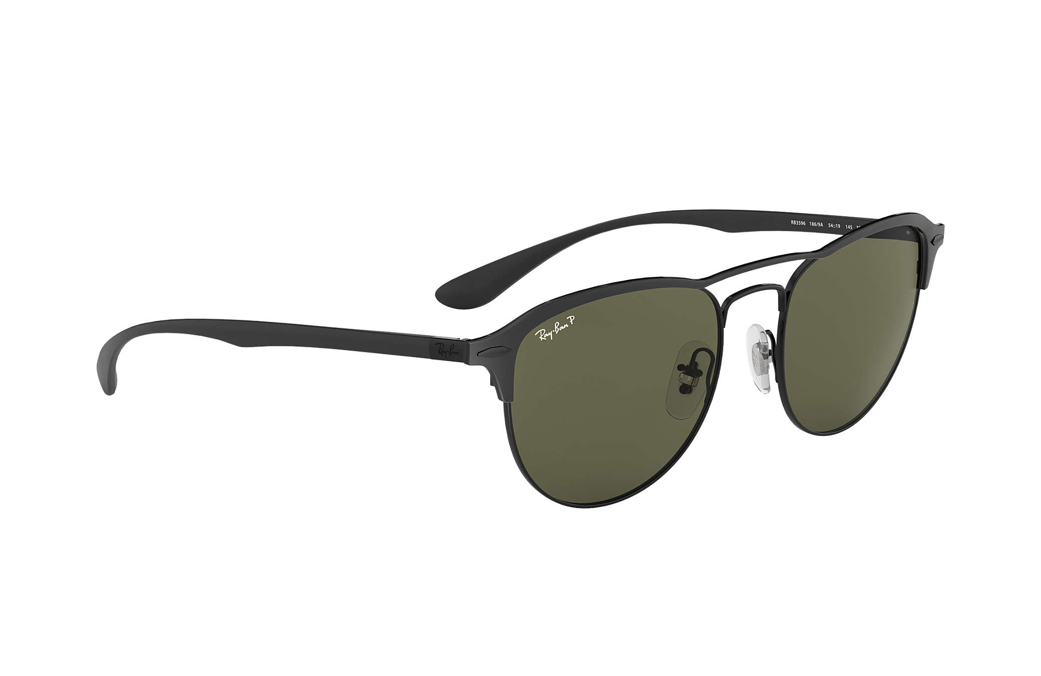 ef1edb1541 Ray-Ban RB3596 Black - Peek - Green Polarized Lenses - 0RB3596186 ...