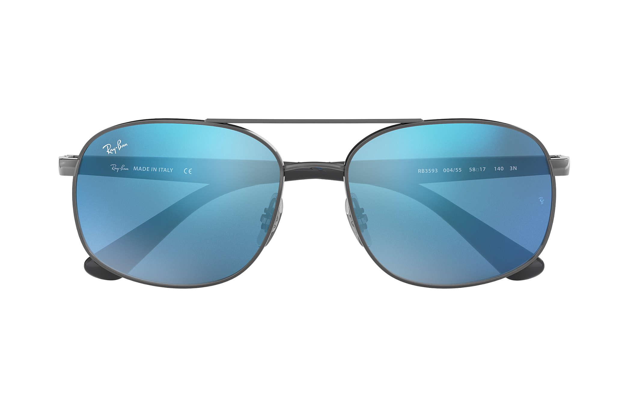 51ea672cad Ray-Ban RB3593 Gunmetal - Steel - Blue Lenses - 0RB3593004 5558 ...