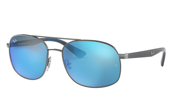 Ray-Ban 0RB3593-RB3593 Gunmetal; Grey,Blue SUN