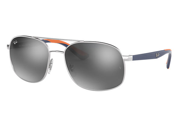 Ray-Ban 0RB3593-RB3593 Silber; Blau,Orange SUN