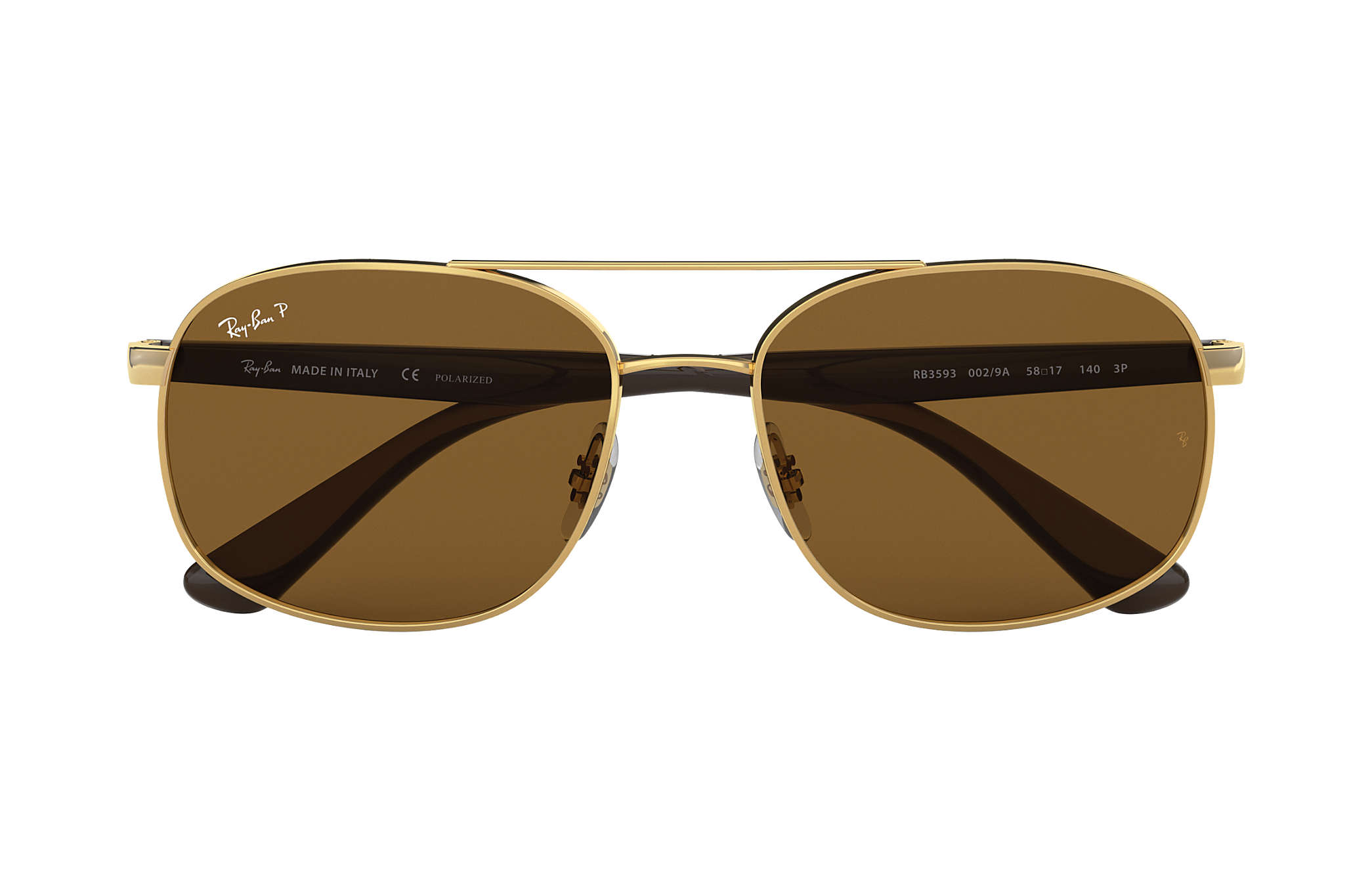 07cfd622e2ae0 Ray-Ban RB3593 Gold - Steel - Brown Polarized Lenses - 0RB3593001 ...