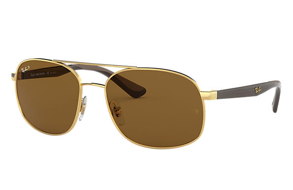 Ray-Ban 0RB3593-RB3593 Gold; Brown,Light Brown SUN