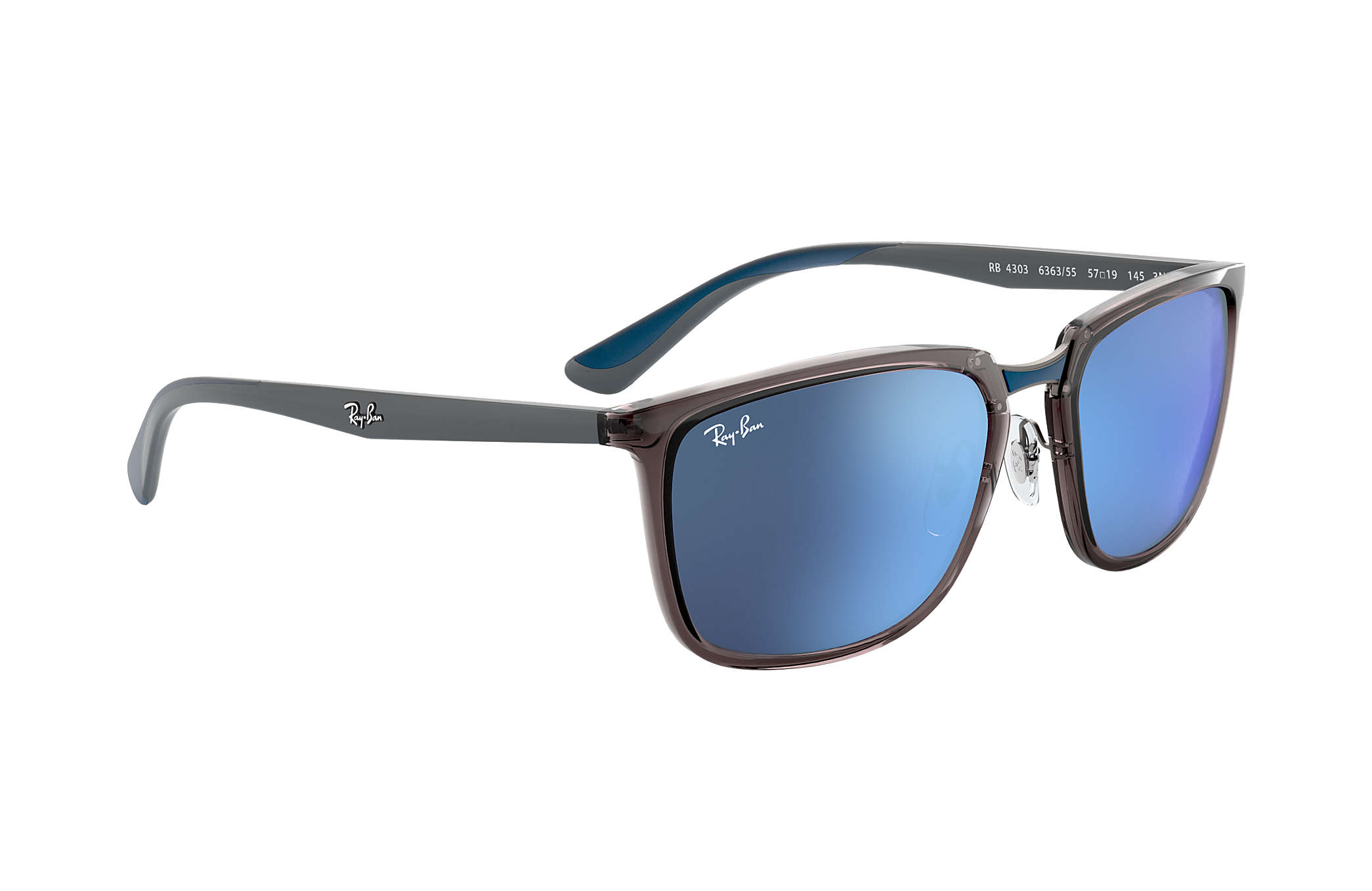 470b195b0a Ray-Ban RB4303 Grey - Nylon - Blue Lenses - 0RB430363635557