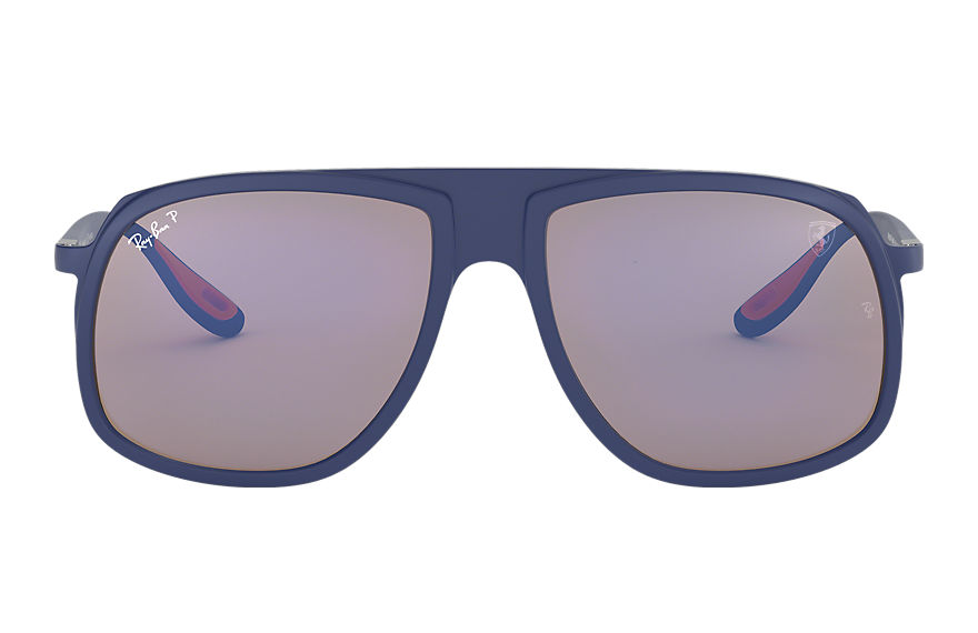 Ray-Ban RB4308M SCUDERIA FERRARI COLLECTION Azul con lente Azul Mirror Chromance