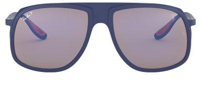 Ray-Ban SCUDERIA FERRARI COLLECTION RB4308M Blue with Blue Mirror Chromance lens
