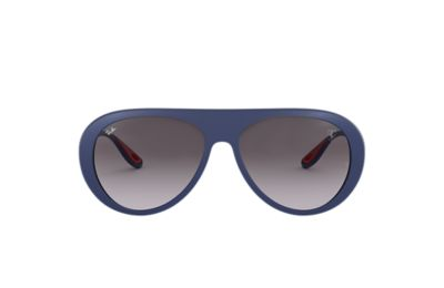 Ray-Ban SCUDERIA FERRARI COLLECTION RB4310M Blue with Grey Gradient lens