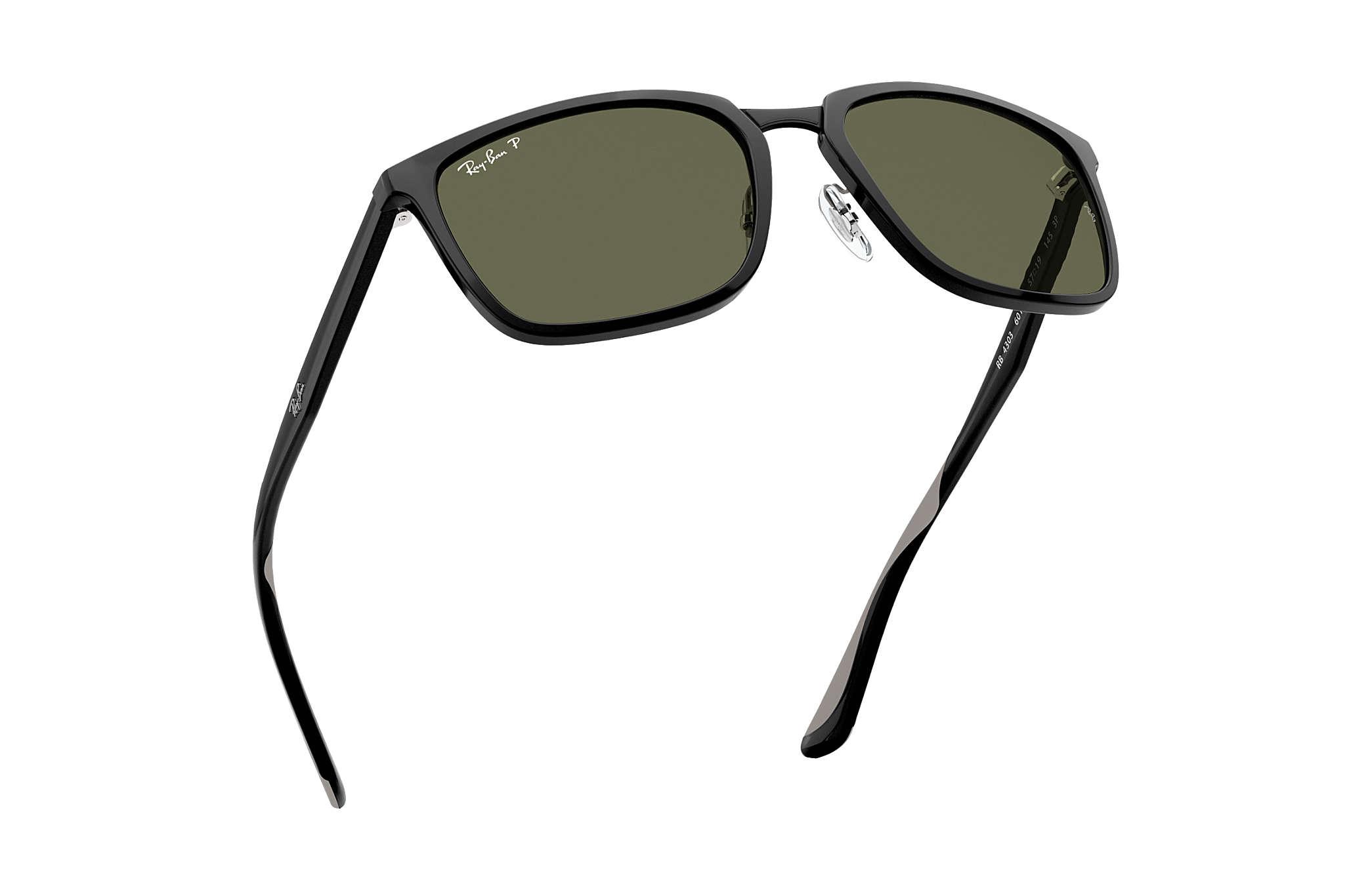 e3bb89939fe Ray-Ban RB4303 Black - Nylon - Green Polarized Lenses - 0RB4303601 ...