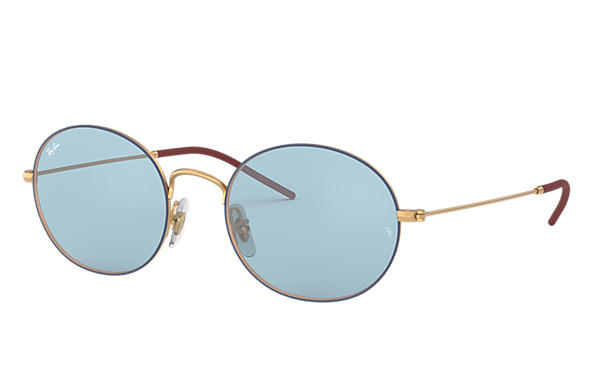 964c1ed17a9fb2 Ray-Ban Ray-ban Beat RB3594 Blue - Metal - Light Blue Brillenglazen ...
