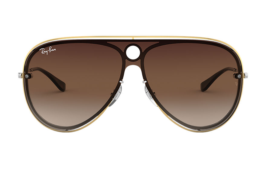 Ray-Ban Sunglasses RB3605N Gold with Brown Gradient lens